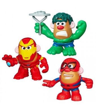 Prannoi Playskool Mr. Potato Head Marvel Mixable, Mashable Heroes Set of 3 - Hulk, Spider-Man and Iron Man