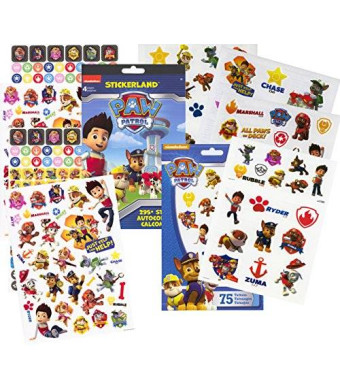 Stickerland PAW Patrol Stickers and Tattoos Party Favor Pack (295 Stickers and 75 Temporary Tattoos)