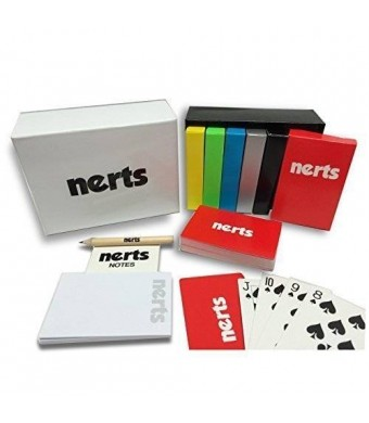 Simply Addictive Games Card Games for Family Game Night. The Official NERTS Box Set of Playing Cards