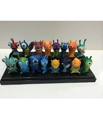 Forti TL Cute New Movie Cartoon Slugterra Action Figures Toys One Set of 16 PVC Dolls for Gifts