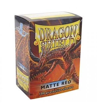 Arcane Tinmen ApS Dragon Shield Matte Red 100 Protective Sleeves