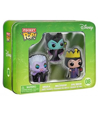 FunKo Pocket POP: Disney Tin- Villains Toy Figure (3-Piece)