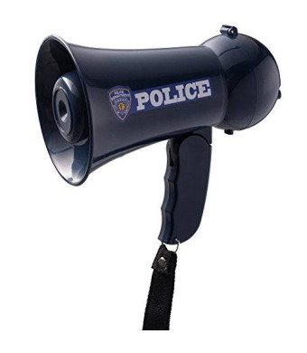 Dress Up America Police Officer's Megaphone with Siren and Handheld Mic Toy