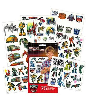 Transformers Temporary Tattoos Party Favor Set (75 Temporary Tattoos)