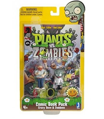Plants vs Zombies Comic Book Pack Action Figure, 3""