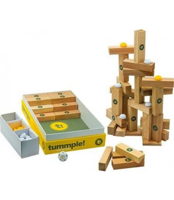 Tummple by BAXBO An Original Wooden Building Block Game (80 Piece Set)