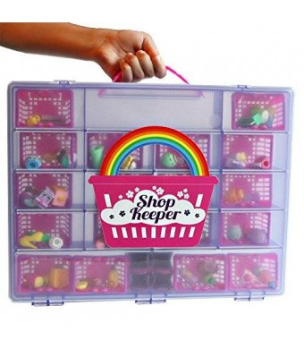 Shop Keeper Purple Storage Container and Carrying Case - Compatible with Shopkins