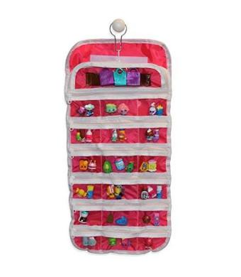 EASYVIEW Shopkin Compatible Organizer Case - Portable Fabric Shopkins Storage