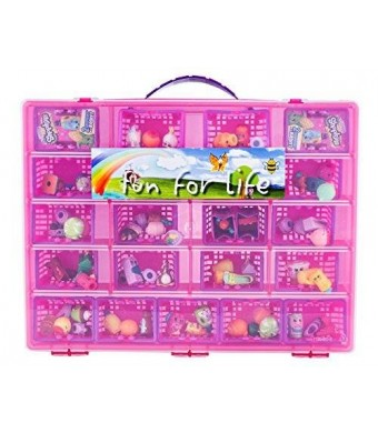 Fun For LifeTM Fun For Life Storage Case with Carrying Handle, Strawberry / Pink