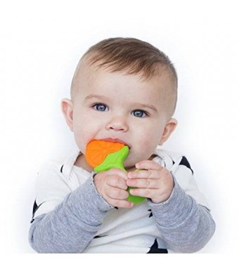 Nuby Fruity Chews Straight Handle Teether, 3 Months