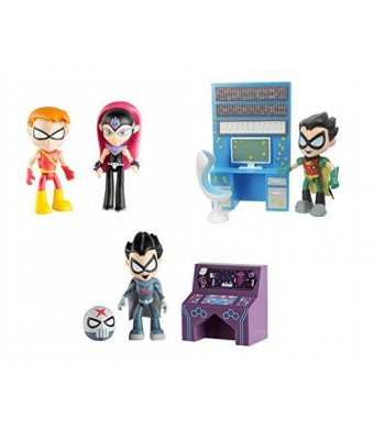 "Teen Titans Go! Teen Titans Go 2.75"" Figures Bundle Set - 3 Items: Sarfire with Speedy, Red X with Accessory, and Robin with Accessory"