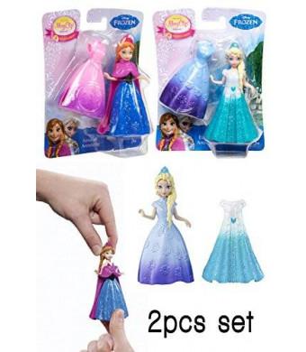 Mattel Disney Frozen Magiclip Anna and Elsa 2pcs Doll