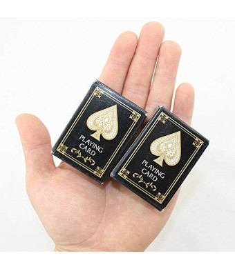 Sago Brothers Mini Playing Poker Card Travel Playing Card Two Decks