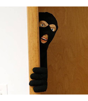 Scary Peepers Halloween Decoration - Scary Peeper- Scary Intruder - The True-to-Life Door Prop that looks just like a burglar
