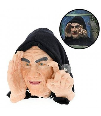 Scary Peepers Halloween Decoration - Scary Peeper - Tapping Peeper - The True-to-Life Motion Activated Window Prop that really taps on your window