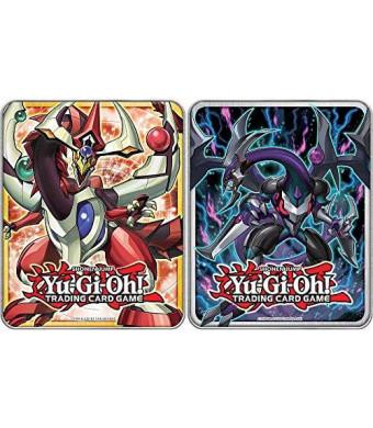 Konami YuGiOh Mega Tin 2015 Odd-Eyes Pendulum Dragon and Dark Rebellion Xyz Dragon Set