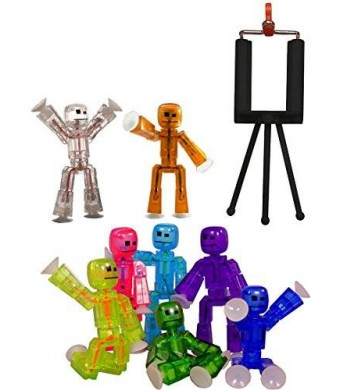 "Stikbot Stikbot Complete 3"" Set of 6 Figures and Starter"