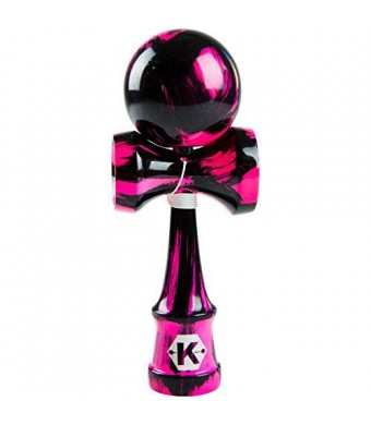 Kendama Kraze Kendama Toy - Extra String- Tribute Samurai Sweet Pink and Black Pro Model | Great for Boys and Girls