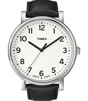 Timex Originals T2N338 Mens Classic White Dial Black Strap Dress Watch