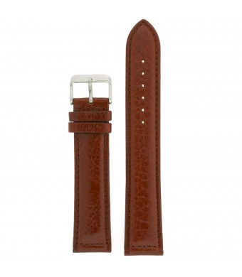 Extra Long Watch Band Leather Light Brown Padded 24 millimeters Tech Swiss