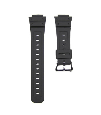 Timewheel 16mm Replacement Black Watch Band Strap fits Casio G Shock DW-5600E, DW-5700 and More