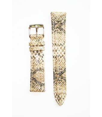 Toscana Tan Baby Python Leather Watchband with Quick Release Pins Michele Style
