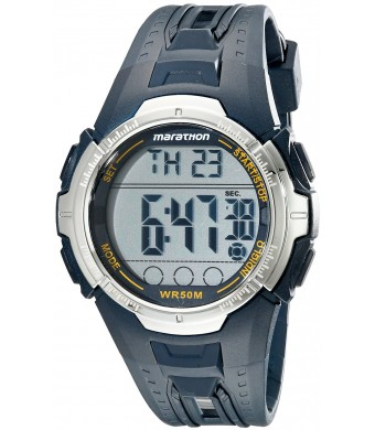 Timex Men's T5K804M6 Marathon Sport Watch with Blue Resin Band