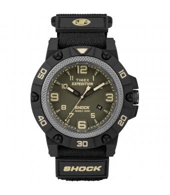 Timex Expedition Field Shock Watch - Black/Green w/Fast-Wrap Strap