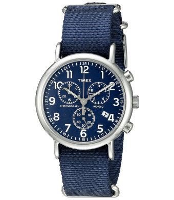 Timex Men's TW2P713009J Weekender Collection Blue Watch With Blue Nylon Band