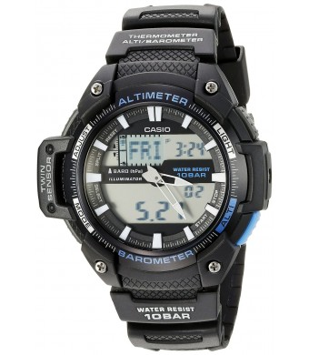 Casio Men's SGW-450H-1ACF Twin Sensor Analog-Digital Display Quartz Black Watch