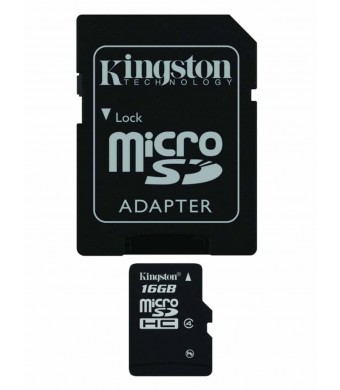 Professional Kingston MicroSDHC 16GB (16 Gigabyte) Card for Samsung Galaxy S4 Smartphone with custom formatting and Standard SD Adapter. (SDHC Class 4 Certified)