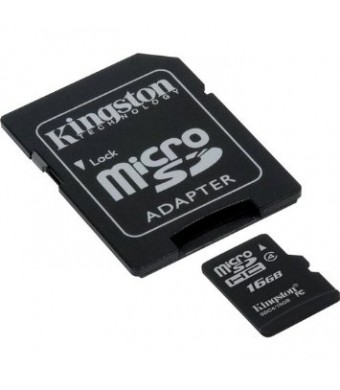 Transcend Samsung SGH-T404G Cell Phone Memory Card 16GB microSDHC Memory Card with SD Adapter (Bulk Packagin