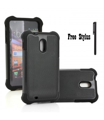 The Little Penguin Anti-Shock and Drop Dual Layer Hybrid Case for The Sprint Samsung Galaxy S2 II (SPH-D710), US Cell