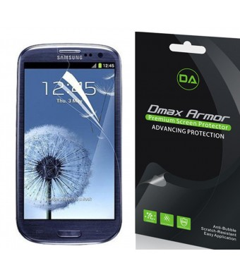 [6-Pack] Dmax Armor- Samsung Galaxy S3 Screen Protector Anti-Bubble High Definition Clear Shield - Lifetime Replacements Warranty- Retail Packaging