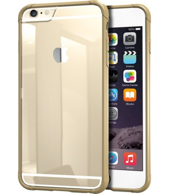 """iPhone 6 Plus/6s Plus Case - PureView Clear Case for iPhone 6+/6s+ (5.5"""") by Silk - Ultra Slim Protective Crystal Clear Phone Cover (Champagne Gold)"""