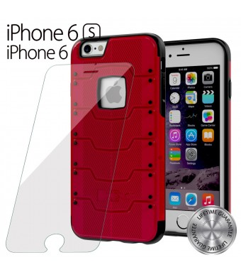 iPhone 6s, 6 Case, HUMMER [Built-In Screen Glass Protector] iPhone 6s (4.7) Case Protective **NEW** [HUMMER Armor HX] EXTREME Slim all Around Protection + Front Built-In GLASS Screen Protector Cover / Full Body Protection Rugged but Slim Dual Layer Protec