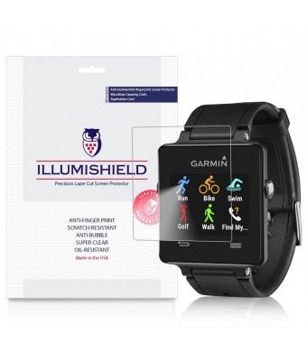 iLLumiShield - Garmin Vivoactive Screen Protector with Lifetime Replacement Warranty - Ultra Clear HD Film with Anti-Bubble and Anti-Fingerprint - High Quality Invisible LCD Shield - [3-Pack]
