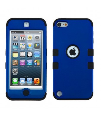 MegaTronic iPod Touch 5th and 6th Generation Case, Heavy Duty Tough 3 Piece Layer Combo Hybrid Armor Hard Rub