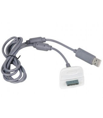 Mod Freakz Xbox 360 Play and Charge Cable, Pack of 2 White