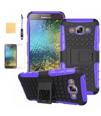 ANLI Galaxy E5 Case, Heavy Duty Dual Layer Protection / Shockproof / Drop Resistance Hybrid Rugged Cove