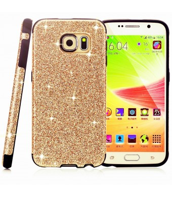 BaseTronics Galaxy S6 Case,Premium Branded MeKo Glitter Bling **Built in Sparkles ** Anti-falling off and Anti