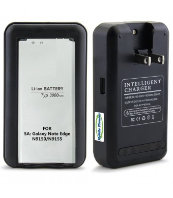 Note Edge Charger, MP-Mall [Wall Charger], Black USB Wall Travel Spare Battery Charger for Samsung Galaxy Note Edge / SM-N9150