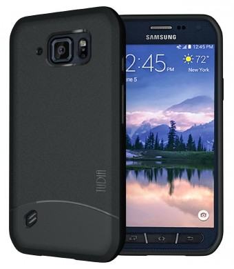 Galaxy S6 Active Case, TUDIA Full-Matte ARCH TPU Bumper Protective Case for Samsung Galaxy S6 Active (Black)