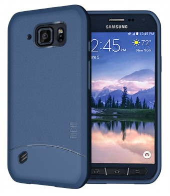 Galaxy S6 Active Case, TUDIA Full-Matte ARCH TPU Bumper Protective Case for Samsung Galaxy S6 Active (Blue)