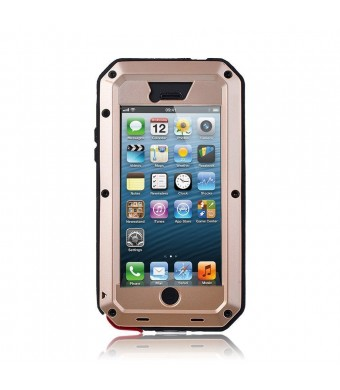 3C-Aone iPhone 5S Case,Gorilla Glass Luxury Aluminum Alloy Protective Metal Extreme Shockproof Military Bu