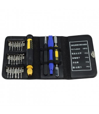 E-Durable™ E-Durable DIY Tool 22 Pcs Pro Precision Electronics Repair Tool Kit Pocket Screwdriver Opening Too