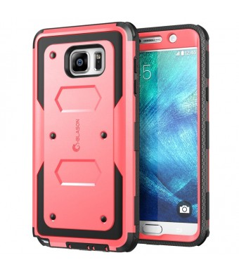 Galaxy Note 5 Case, i-Blason Armorbox Dual Layer Hybrid Full-body Protective Case For Samsung Galaxy Note 5 with Front Cover and Built-in Screen Protector / Impact Resistant Bumpers (Pink)