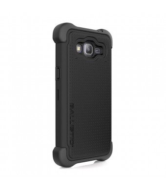 Ballistic Cell Phone Case for Samsung Grand Prime - Retail Packaging - Black
