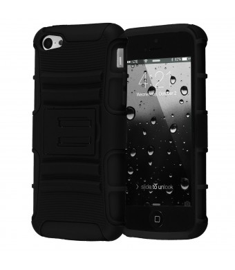 iPhone 5C Case, CHTech Hybrid Dual Layer Shock Defender Protective Case for Apple iPhone 5C (Black)