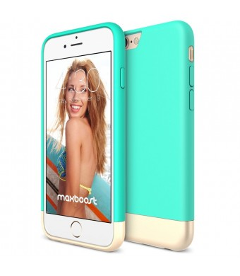 iPhone 6S Case, Maxboost [Vibrance S - Mint/Champagne Gold] Protective Slider Case SOFT-Interior Scratch Protection Finished Hard Case For Apple iPhone 6 and iPhone 6S 4.7-Inch